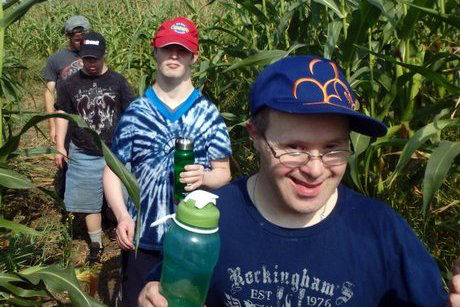 Cosmo Rec Outing in Corn Maze