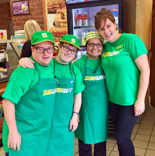 Supported Work at Subway